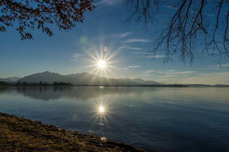 Photo taken at the Chiemsee in Bavaria, Germany, in December.