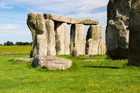 megaliths: Stonehenge, stone age megaliths in Great Britain.