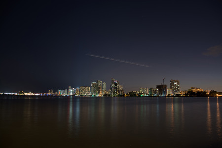 iluminated: Miami is a city located on the Atlantic coast in southeastern Florida and the county seat of Miami-Dade County.