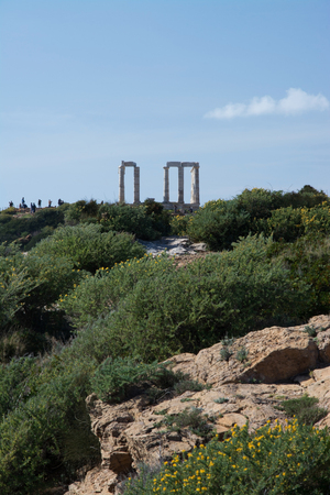 poseidon: Cape Sounion, Sounion also, is a cape at the southernmost tip of Attica in Greece. It is known for the ruins of the ancient marble temple of Poseidon.