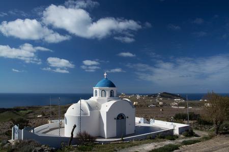 thira: Church at the main island Thira, or Thera, at Santorini, Greece.