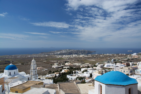 thera: Emporio is a village in the Cyclades. It is located on the main island Thira, or Thera, at Santorini, Greece Stock Photo