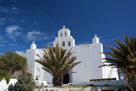 thera: Emporio is a village in the Cyclades. It is located on the main island Thira, or Thera, at Santorini, Greece Editorial