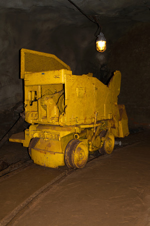 Erz: Picture taken underground at a Mine in Poehla, Erz Mountains, Germany. Stock Photo