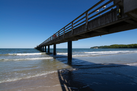 metres: The pier in Binz on the island Ruegen, Germany, with a lenght of 370 metres.