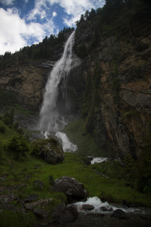 water fall: The Fallbach Water Fall is the highest waterfall in Carinthia, Austria. Stock Photo