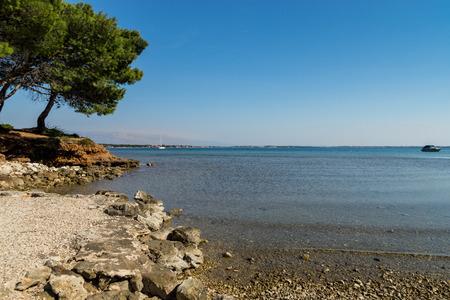 croatian: Vir is an island on the Croatian coast of the Adriatic Sea. Stock Photo
