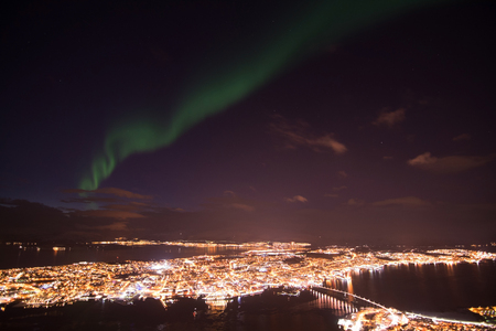 Aurora Borealis, photo taken over Tromso, Norway, in February.