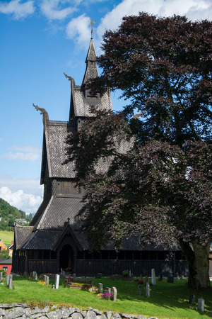 Hopperstad Stave Church is a stave church located in Vik in the Sogn og Fjordane county, Norway. Banque d'images