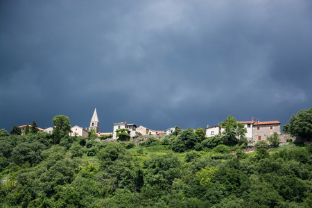 Hum is a small town in the central part of Istria, northwest Croatia. 스톡 콘텐츠