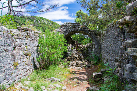 On the old path that once connecting Labin and Rabac stand the ruins of the Romanesque church of St. Hadrian.