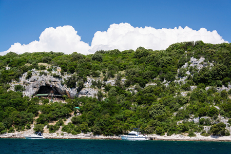 The Lim bay and valley is a peculiar geographic feature on the western coast of Istria, Croatia. 스톡 콘텐츠