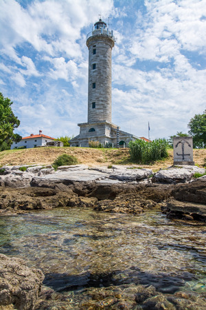 Savudrija is a coastal settlement in northwestern Istria, Croatia. The lighthouse is the most northerly in Croatia. 스톡 콘텐츠