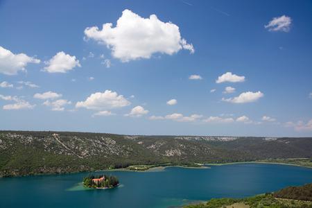 The Visovac Monastery is a Catholic monastery on the island of Visovac in the Krka National Park, Croatia.