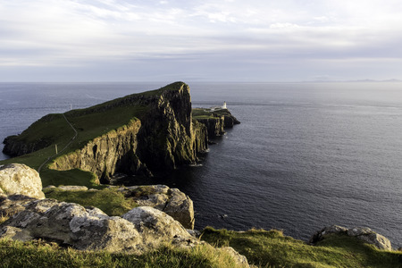 Neist Point is a viewpoint on the most westerly point of Isle of Skye. Stok Fotoğraf - 112813166