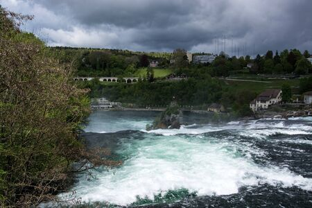 The Rhine Falls is a waterfall located in Switzerland and the most powerful waterfall in Europe. Banque d'images