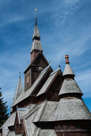 The Lutheran Gustav Adolf Stave Church is a stave church situated in Hahnenklee, a borough of Goslar in the Harz mountains, Germany. Stock fotó