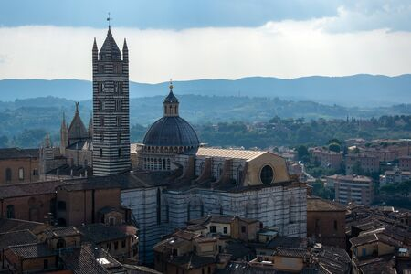 Siena Cathedral is a medieval church in Siena, Italy, dedicated from its earliest days as a Roman Catholic Marian church, and now dedicated to the Assumption of Mary.  Archivio Fotografico