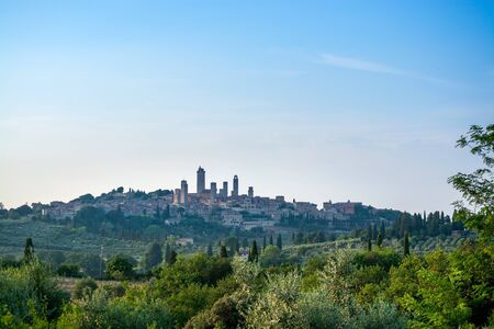San Gimignano is a small walled medieval hill town in the province of Siena, Tuscany, Italy. Known as the Town of Fine Towers, San Gimignano is famous for its medieval architecture,