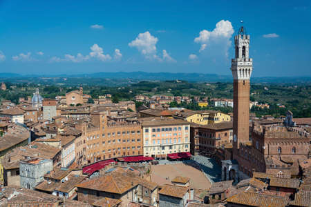 The historic center of Siena, one of the nation's most visited tourist attractions.