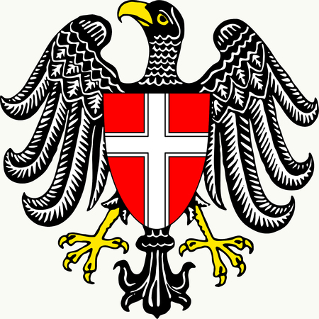 Coat of arms of the Austrian federal state of Vienna - Austria. Standard-Bild - 108592803