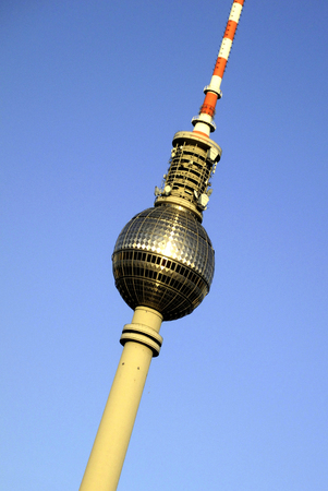 Television tower at the Alexanderplatz in Berlin - Germany.