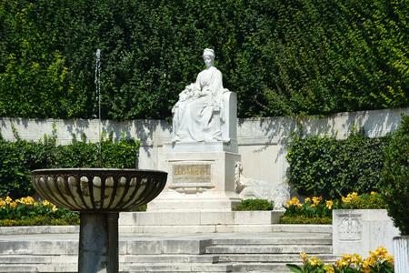 Vienna, Austria - June 17, 2018: Monument of Empress in the park Volksgarten of Vienna - Austria. Editorial