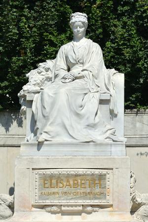 Vienna, Austria - June 17, 2018: Monument of Empress in the park Volksgarten of Vienna - Austria.
