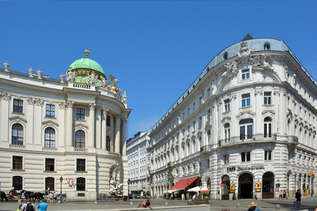 St. Michael's square at the Hofburg in Vienna - Austria.