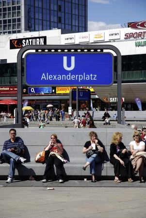 Underground station Alexanderplatz in the center of the German capital Berlin. - Germany. Editorial