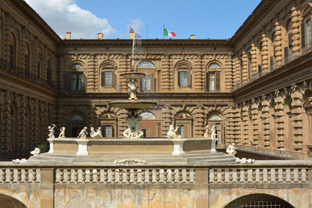 Palazzo Pitti of Florence in a partial view - Italy. Фото со стока