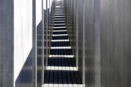 Memorial to the Murdered Jews of Europe near Potsdam Place in Berlin - germany.
