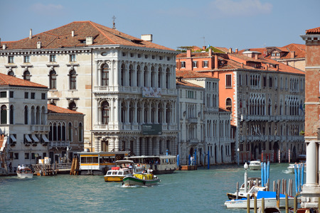 Grand Canal view from Accademia Bridge in Venice - Italy.