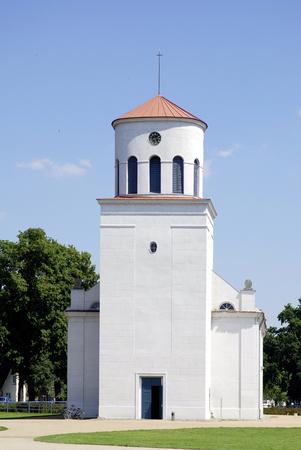 Schinkel Church of Neuhardenberg in Brandenburg - Germany. 写真素材