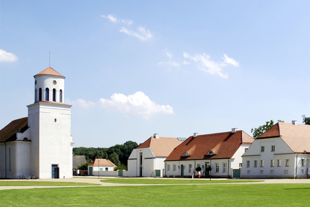 Schinkel Church of Neuhardenberg in Brandenburg - Germany. 写真素材