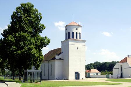 Schinkel Church of Neuhardenberg in Brandenburg - Germany. 報道画像