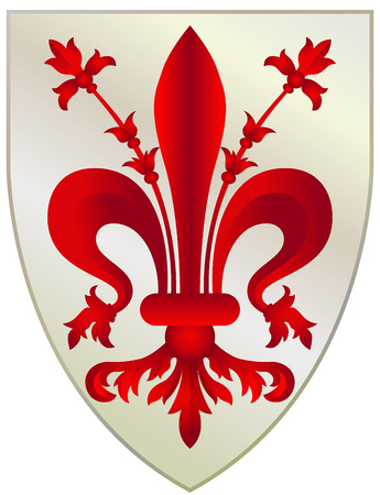 Coat of arms of the Tuscan city Florence - Italy.