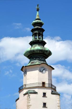 Tower of Saint Michael's Gate in the Michalska street of Bratislava - Slovakia.
