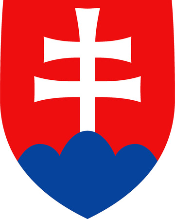 National coat of arms of the Slovak Republic. Standard-Bild