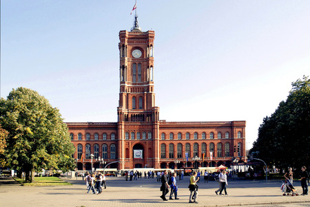 Red townhall is the seat of the Governing Mayor and administrative seat of the state of Berlin - Germany. Sajtókép