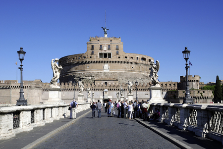 Angel castle at the Tiber in Rome - Italy.