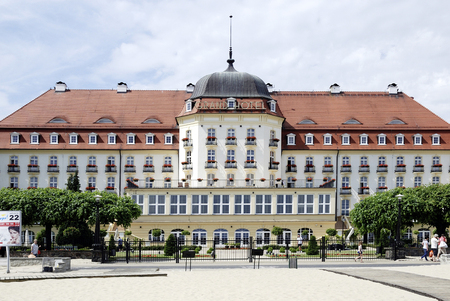 Grand Hotel on the beach of the Baltic resort of Sopot - Poland.