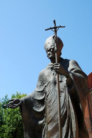Monument to the Polish Pope John Paul the Second Wawel of Krakow - Poland. Editoriali