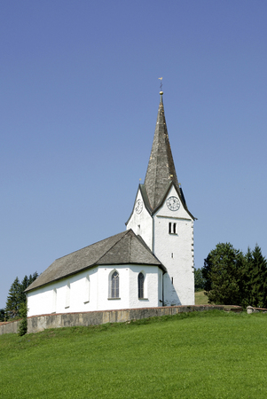 Church of St. Stephan in Genhofen near Stiefenhofen in Bavaria from the 15th Century - Germany.