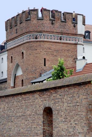 Bridge gate as a part of the city fortification of Torun - Poland. Reklamní fotografie