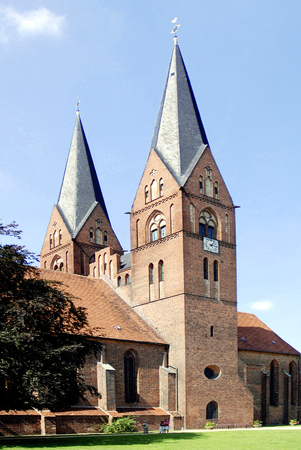 Monastery church Saint Trinitatis in the city of Neuruppin in Brandenburg - Germany.