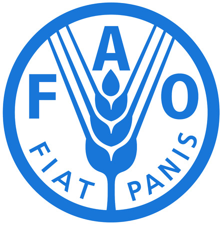 Logo of the Food and Agriculture Organization FAO with seat in Quebec. Editorial
