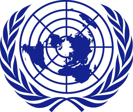 Logo of the United Nations with seat in New York.