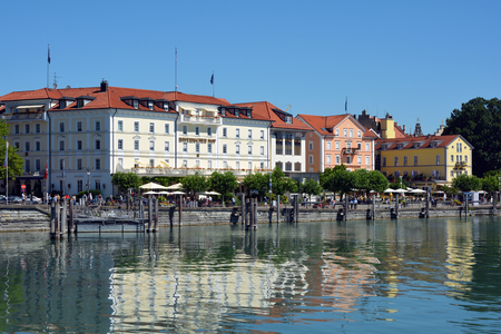 Port of Lindau at the Lake Constance - Germany.