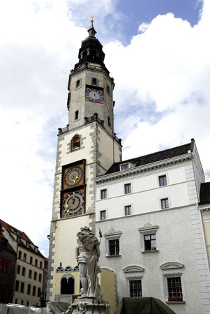 Old city hall at Lower Market Place of Gorlitz in Saxony - Germany.